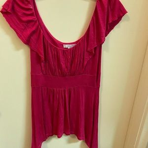 Delia's fitted pink blouse